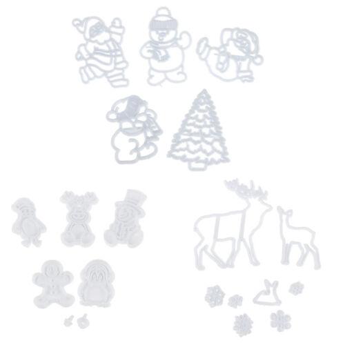Christmas Snowflake Santa Claus Cookie Cutter Fondant Mold Cake DecoratingMADS