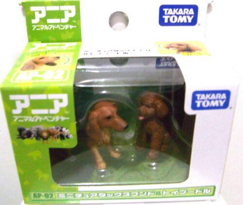 Takara Tomy ANIA Animal Adventure Mini Figure AP-02 Dachshund /& Toy Poodle