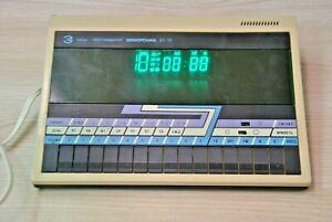 Clock-Elektronica-USSR-Vintage-Table-Soviet-Electronic-Alarm-USSR-Working