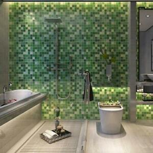 Self Adhesive Mosaic Wall Paper Sticker Tile Contact Paper Bathroom Waterproof Y Ebay