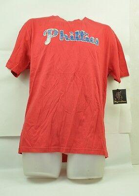 Mlb Philadelphia Phillies Wright & Ditson Herren Medium T-shirt Kurzärmelig Rot Taille Und Sehnen StäRken Fanartikel Baseball & Softball