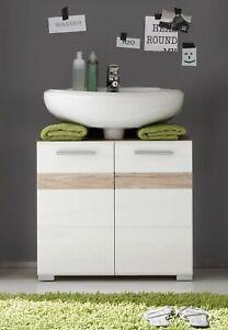 Blanc Salle De Bain Sous Vasque Armoire Meuble De Rangement