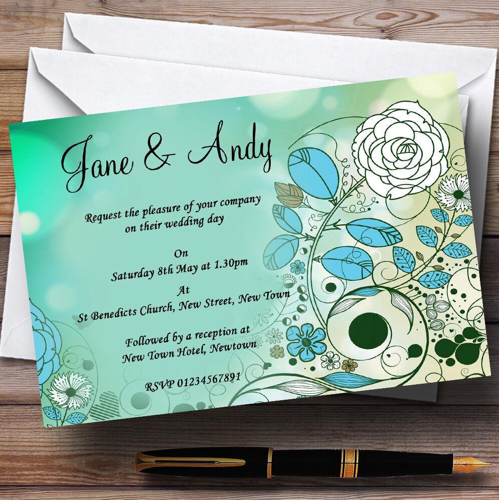 Achats invitations de Noël Aqua turquoise personnalisé soirée réception invitations Achats 21f6b9