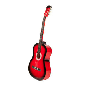us 38 classic acoustic guitar 6 string red for beginners student adults w pick ebay. Black Bedroom Furniture Sets. Home Design Ideas