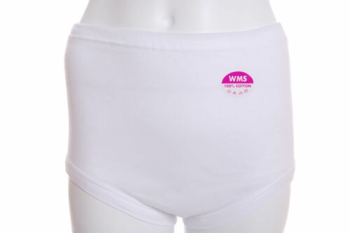 Ladies 100/% cotton Maxi Full Cover Interlock Briefs Knickers British