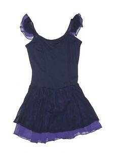 Girl-Body-Wrapers-Navy-Purple-Ice-Skating-Dress-Dance-Leotard-Size-12-14