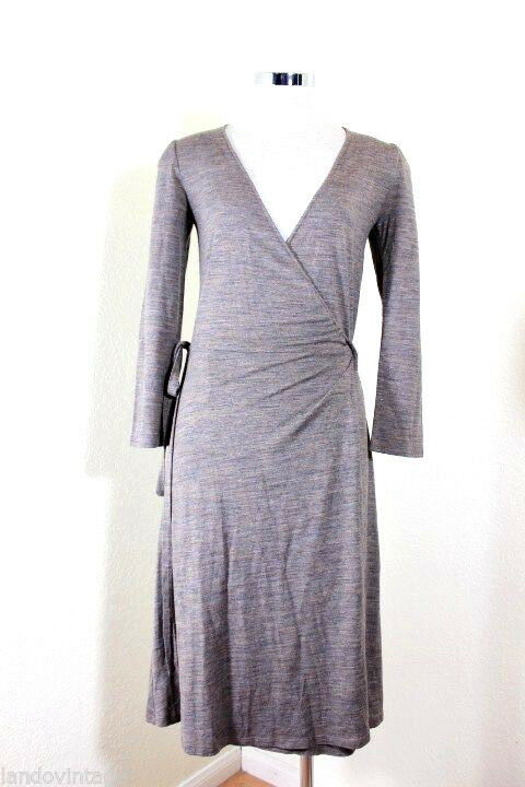 Isabel MARANT Acrylic Wool Grey Brown Wrap Around Dress Small 1 2 Portugal