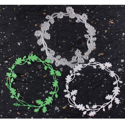 Wreath Flower Metal Cutting Dies Scrapbooking Craft Dies Cuts DIY Album Cards