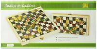 Folding Wooden Snakes And Ladders Game , New, Free Shipping on sale