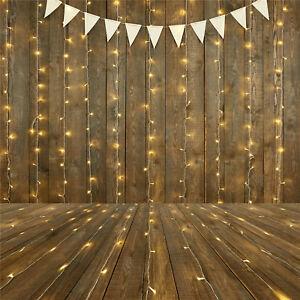 Christmas Light Wood Board Flag Photography Background