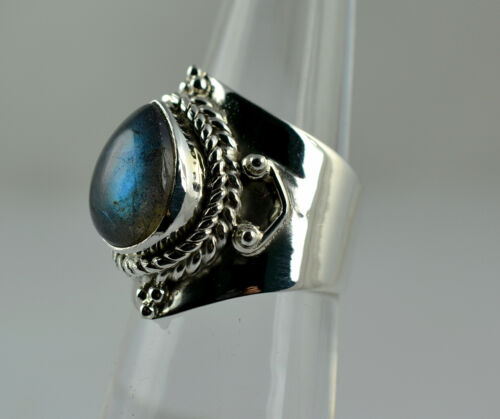 Labradorite Silver Ring 925 solid sterling silver handmade Bijoux Taille 3-13 US