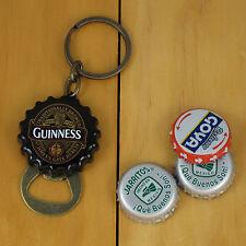 Guinness Flip Out Bottle Opener Keychain, Black Bottle Cap Style NEW!!