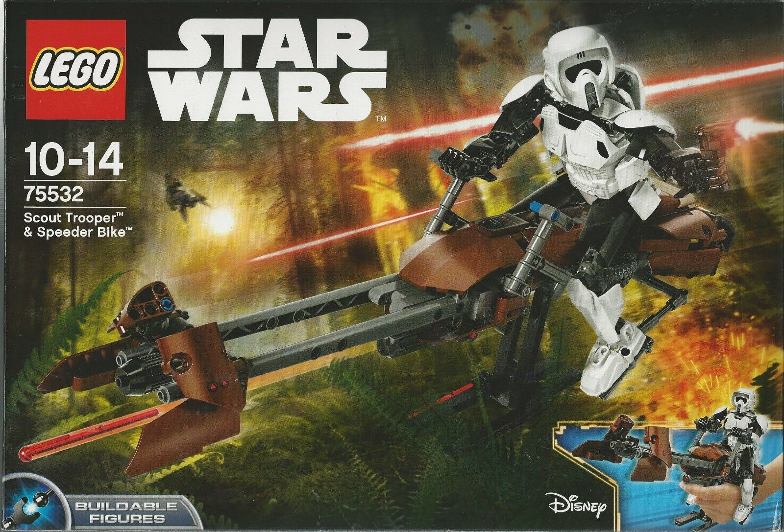 LEGO  STAR WARS 75532 SCOUT TROOPER & SPEEDER BIKE BUILDABLE FIGURE Nuovo Sealed