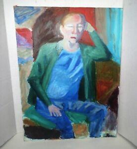 Mid-Century-Old-Master-IMPRESSIONIST-PORTRAIT-PAINTING