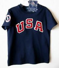 Ralph Lauren Boys Navy USA Official Outfitter Olympic T-Shirt (3/3T) NWT