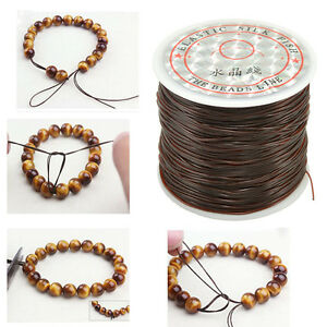 Image Is Loading 50m Strong Stretch Elastic Cord Wire Rope Bracelet