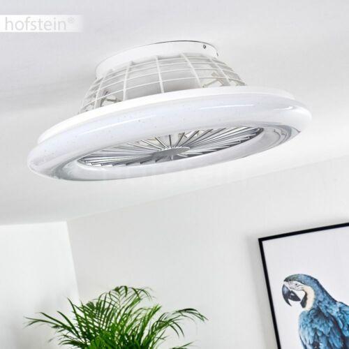 LED Ventilatore a soffitto salotto sonno stanza LUCI TELECOMANDO ARIA RADIATORE BIANCO