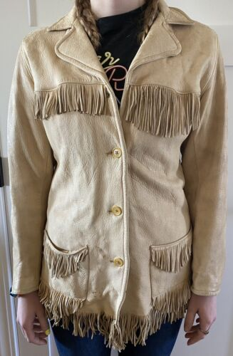 50s  60s Mid-Western Sport Togs Deerskin Jacket
