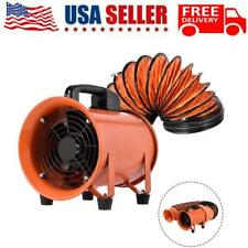 8 Industrial Extractor Fan Blower With 5m Duct Hose Garage Electrical Utility