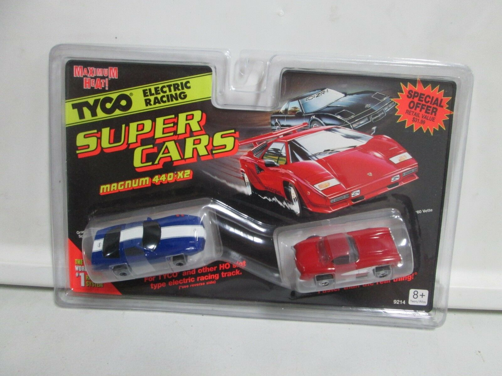 TYCO ELECTRIC RACING voitures Super Magnum 440-X2 Grand Sport &'60 Vette HO Scale