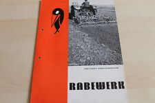 144445) Rabewerk Dreipunkt Vibrationseggen Prospekt 04/1970