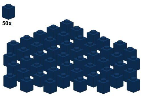 Dunkelblau 3005-08 50Stk Bricks LEGO® 1x1 - Stein Darkblue