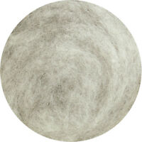 Carded Wool Felting Spinning Craft Hand Spin Wet Needle Felt - Light Grey (mix)