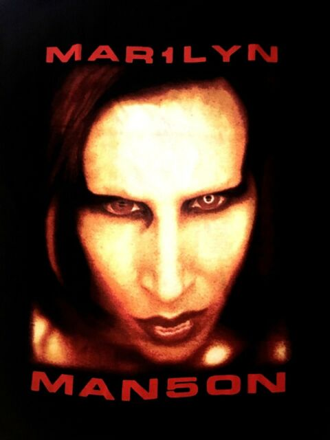 MARILYN MANSON cd lgo BIGGER THAN SATAN Official SHIRT MED New OOP