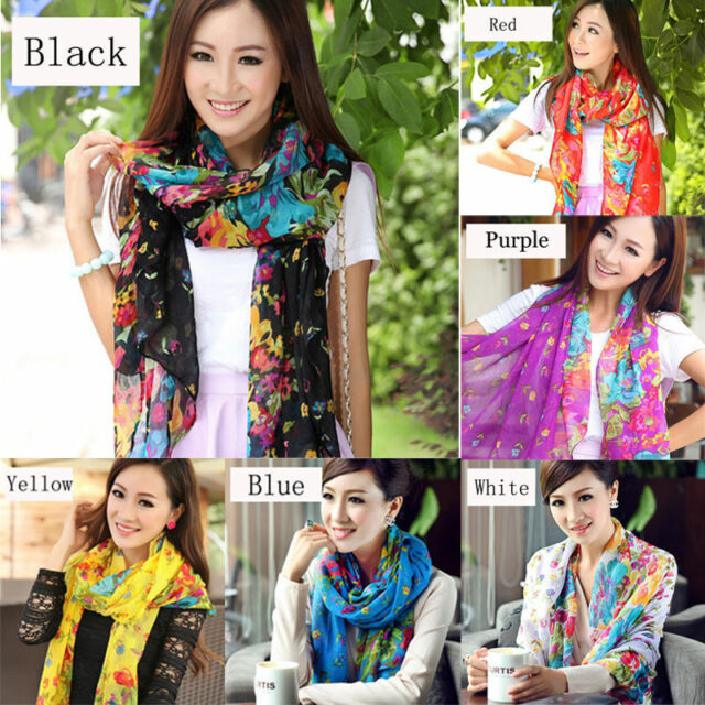 Stylish Warm Soft Women Voile Scarf  Neck Wrap Shawl Stole Scarves  19 colors