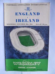 1963 International England v Ireland  121163 - Swadlincote, United Kingdom - 1963 International England v Ireland  121163 - Swadlincote, United Kingdom