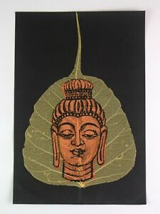 Buddha-Hand-Painting-On-Dry-Leaf-Wall-Decor-Great-Art-Gifting-Decor-i54-143-AU