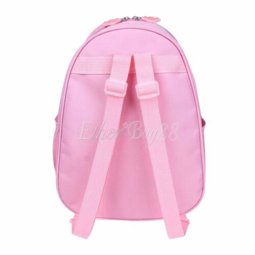 Pink Girls Backpack Dance Bag Shoulder Pouch Tote Ballet Shoes Tap Quilted Dress