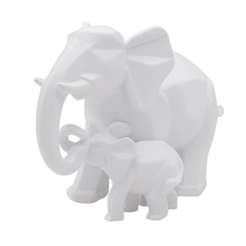 Pair of Elephant Statue Resin Mother and Son Statue for Home Decor