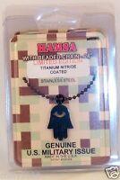 Gi Jewelry - Us Military, Hamsa, Judaica Black Titan Kote Pendant 24 Chain