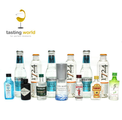 GIN TONIC Tasting Set: 7 x Gin + 6 x Tonic 1724 / FeverTree - Gin Mare Bombay ua