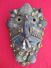 Museum Quality Naga Headhunter Mask With Shells, Bone Beads, Teeth & Adornments