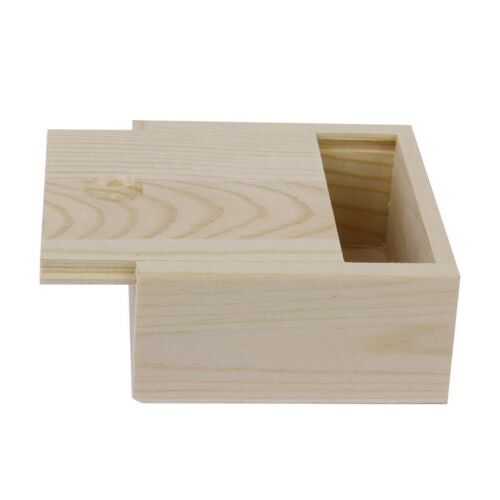 Small Plain Wooden Storage Box Case for Jewellery Small Gadgets Gift Wood N3