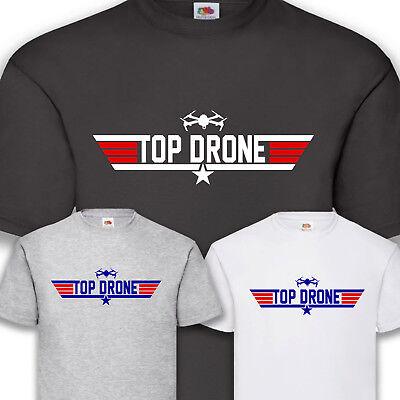 100% Vero Top Drone Drone T-shirt Funshirt 100% Cotone S-5xl- Reputazione In Primo Luogo