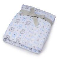 Infant Baby Boy 2 Pk. Just Born Muslin Swaddle Blankets
