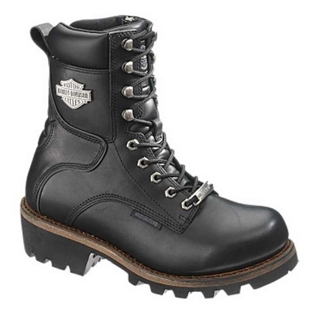 nelle promozioni dello stadio Harley-Davidson Donna  Tyson 7-Inch nero Leather Motorcycle stivali stivali stivali D87016  qualità di prima classe