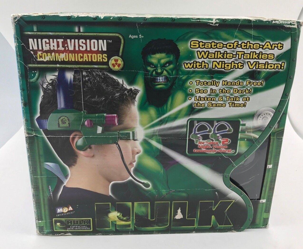 IncROTible HULK State of the Art Walkie Talkies With Night Vision Never Used