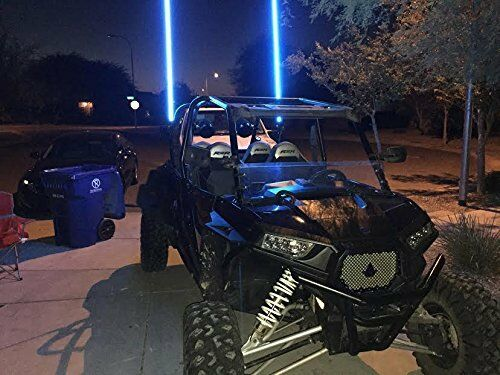 Remote Pair Aces Racing 5ft Lighted LED Whip w// American Flag Quick Disconnect