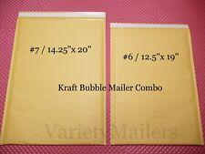 14 Kraft Bubble Envelope Combo 2 Extra Large Sizes Padded Shipping Mailers