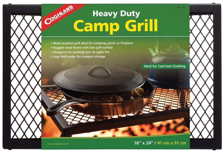 Coghlans Heavy Duty Parrilla para cocinar campamento fuego de campamento