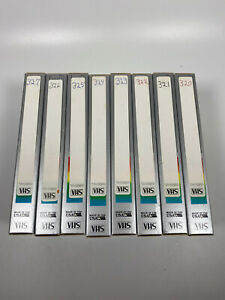 Lot-Of-8-Pre-Recorded-Mix-Label-T-120-VHS-Tapes-Sold-As-Used-Blanks
