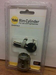 YALE-RIM-CYLINDER-POLISHED-CHROME-Nightlatch-Barrel-Free-P-amp-P
