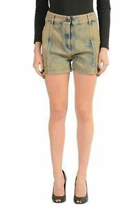 Maison-Margiela-MM6-Multi-Color-Striped-Denim-Women-039-s-Casual-Shorts-US-M-IT-42