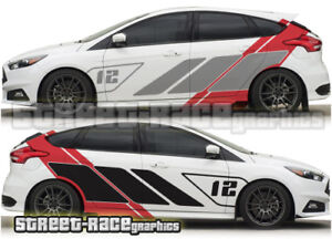 Details Zu Ford Focus Rally 016 St R Racing Stripe Decals Stickers Graphics