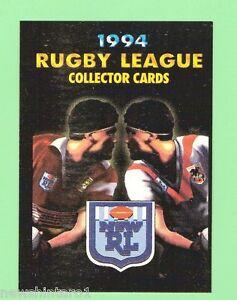 1994 INAUGURAL DYNAMIC MARKETING RUGBY LEAGUE PROMO CARD, BRONCOS V DRAGONS