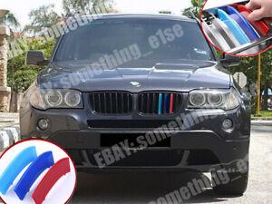 M-power-tri-Color-Grille-Cover-facelift-LCI-BMW-e83-2006-x3-Cap-Clip-strip-trim